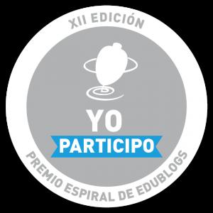 """Logo de participante en la categoría """"Profesores que comparten"""" del premio Espiral Edublog."""